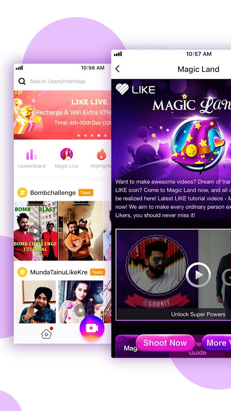 Screenshot LIKE Video- Magic Video Maker & Community APK