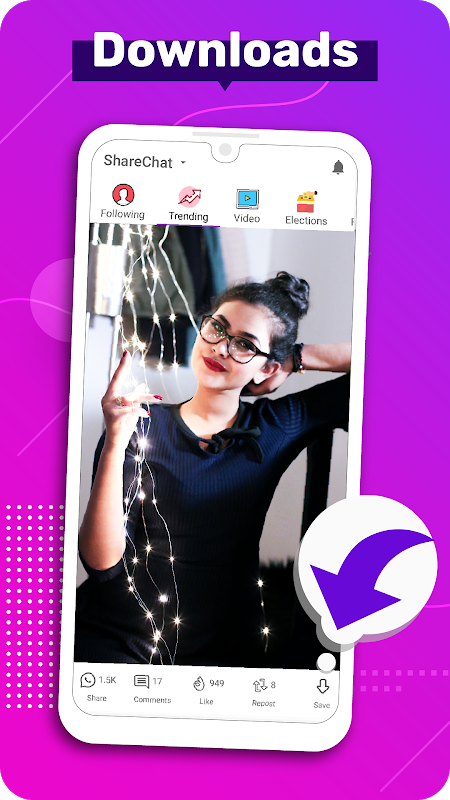 Clip India - Videos, Status, Friends, Share & Chat The App Store android Code Lads