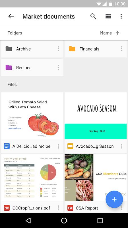 Screenshot Google Drive APK