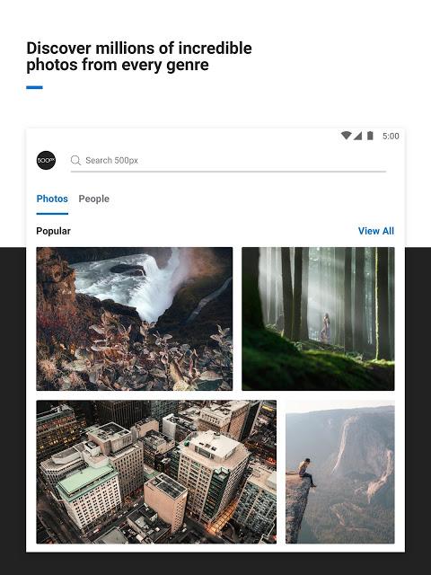Screenshot 500px – Photography APK