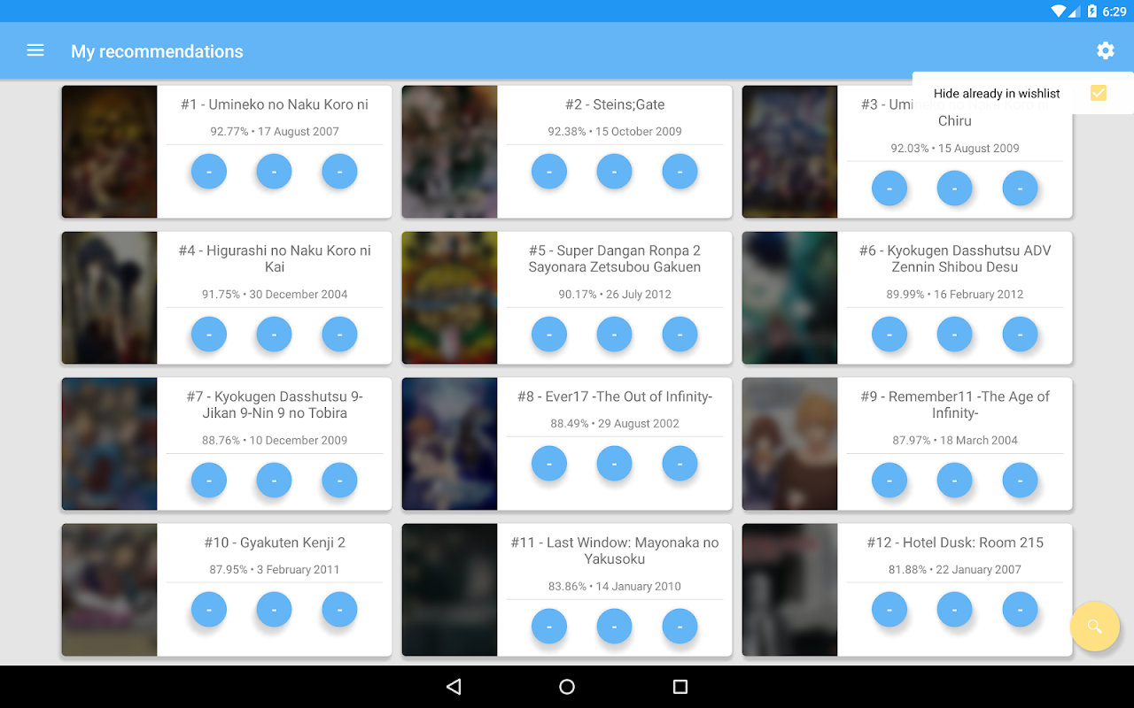 Screenshot VNDB Android APK