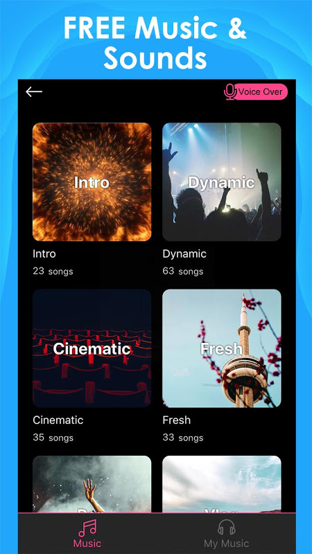 Screenshot Intro Maker for YouTube - music intro video editor APK