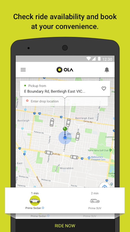 Screenshot Ola cabs - Taxi, Auto, Car Rental, Share Booking APK