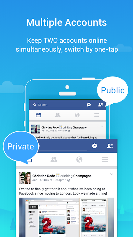 Screenshot Parallel Space - Multiple accounts & Two face APK