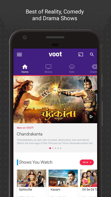 Voot - Watch Free - Colors, MTV Shows & Live News The App Store
