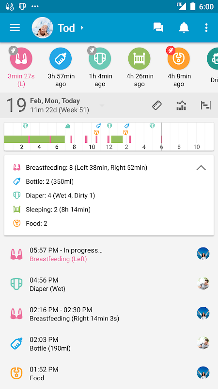 Screenshot Baby Daybook - Breastfeeding & Care Tracker APK