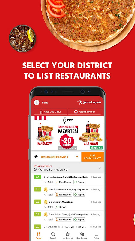 Yemeksepeti - Order Food & Grocery Easily The App Store