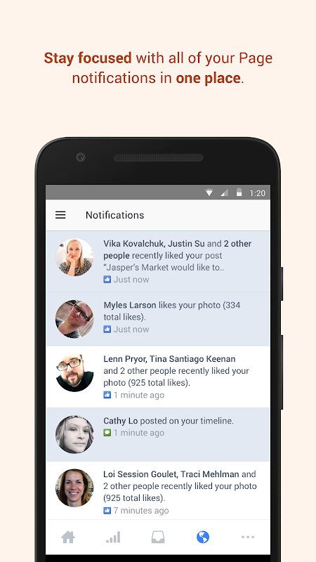 Screenshot Facebook Pages Manager APK
