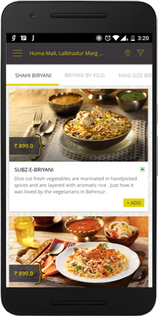 Behrouz - The Royal Biryani The App Store