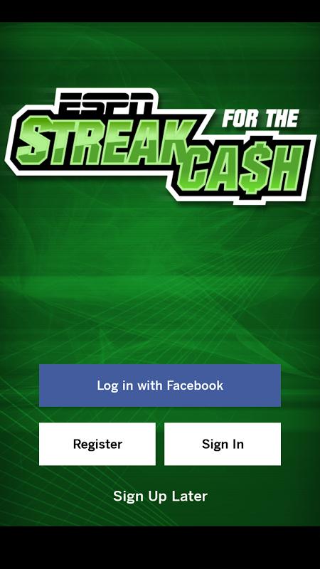 ESPN Streak For The Cash The App Store