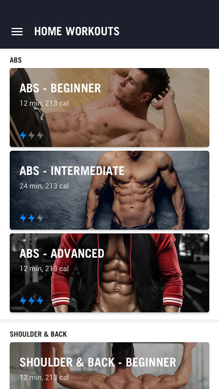 Screenshot Home Workout - No Equipment APK