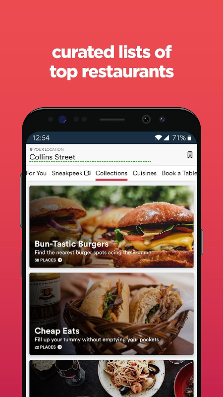 Screenshot Zomato - Restaurant Finder and Food Delivery App APK