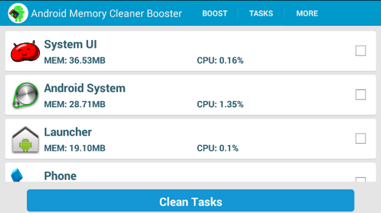 Screenshot Android Memory Cleaner Booster APK