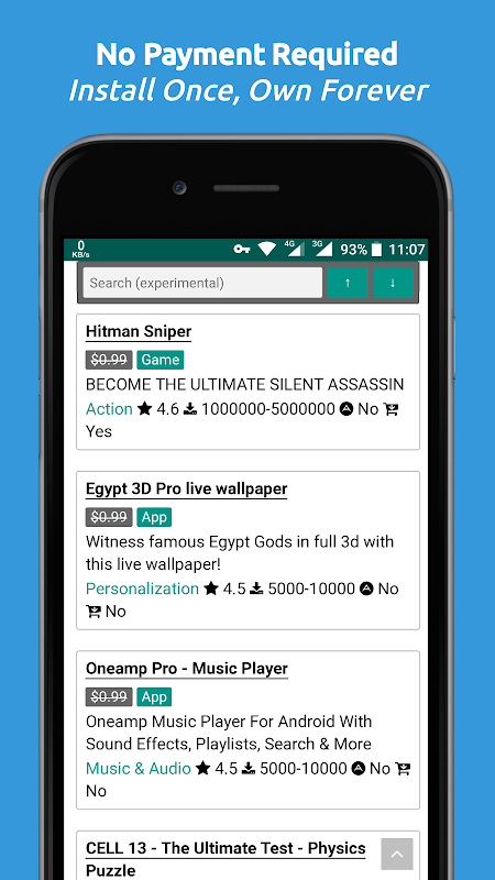 Screenshot Paid Apps Gone Free - PAGF (Beta) APK
