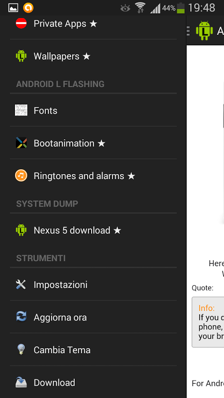 Screenshot Android L Apps APK
