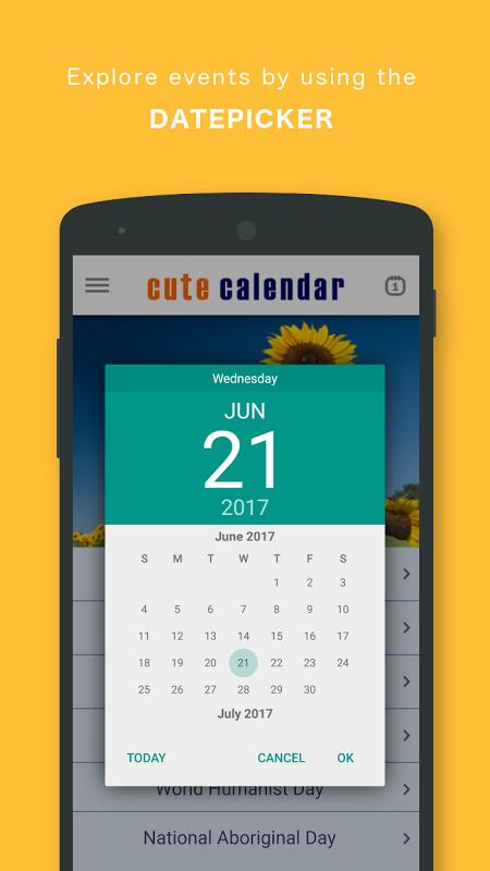 Screenshot Cute Calendar PRO APK