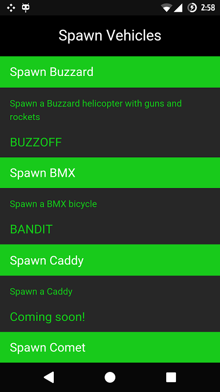 Screenshot Cheat Codes for GTA 5 APK