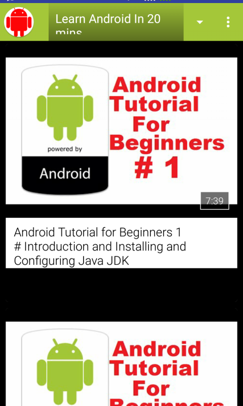 Screenshot Learn Android In 20 minutes APK
