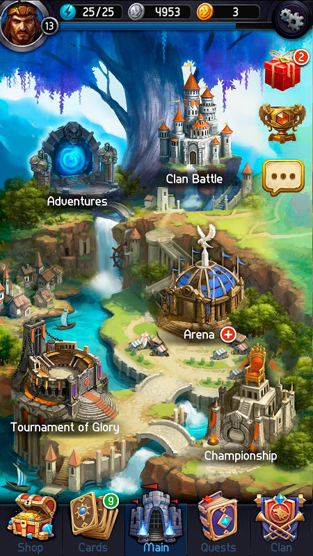 Screenshot Card Heroes APK