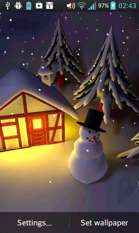 Winter Snow in Gyro 3D The App Store