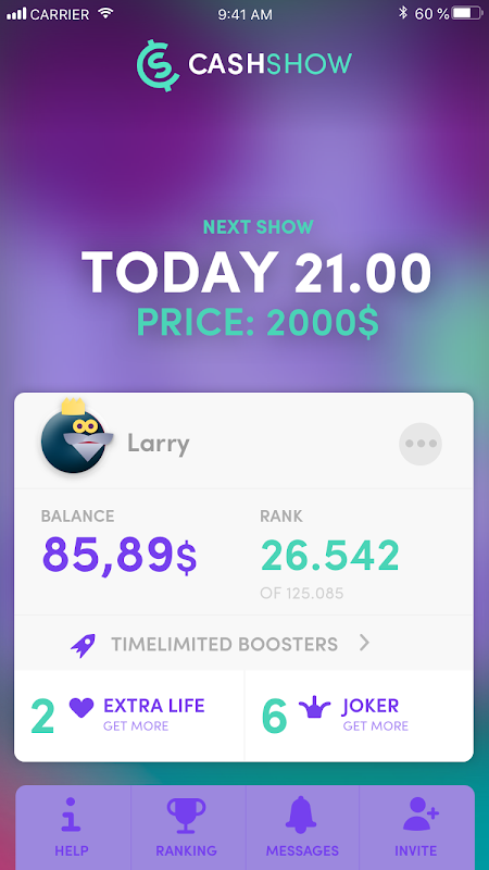 Screenshot Cash Show - Win Real Cash! APK