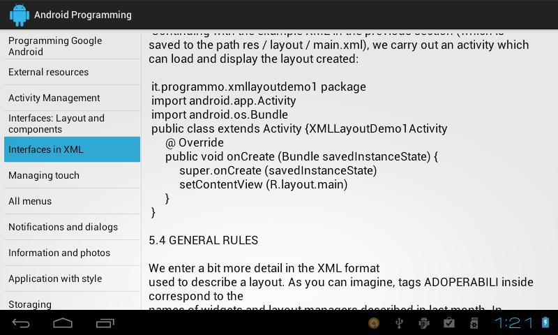 Screenshot Programming Android APK