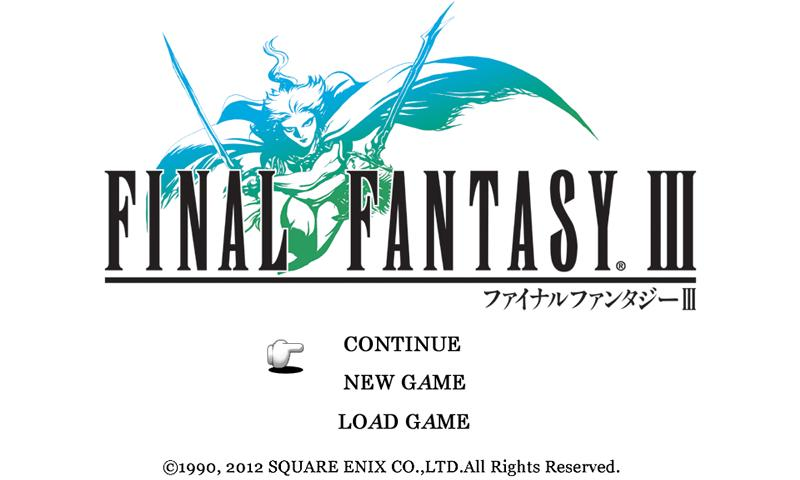 FINAL FANTASY III The App Store android Code Lads