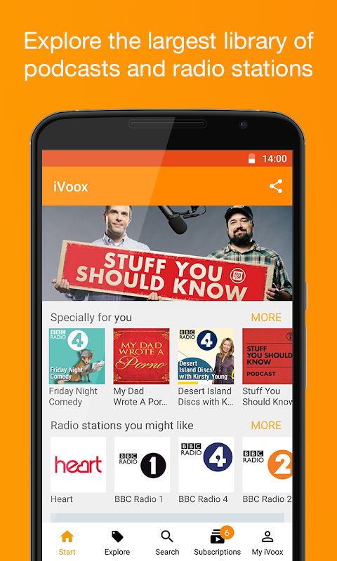 Podcast & Radio iVoox The App Store android Code Lads