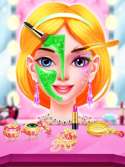 Real Princess Makeup Salon Games For Girls