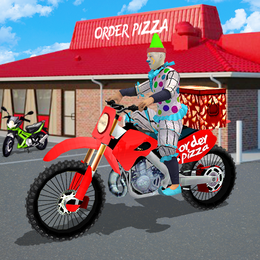 Scary Clown Boy Pizza Bike Delivery 2.0