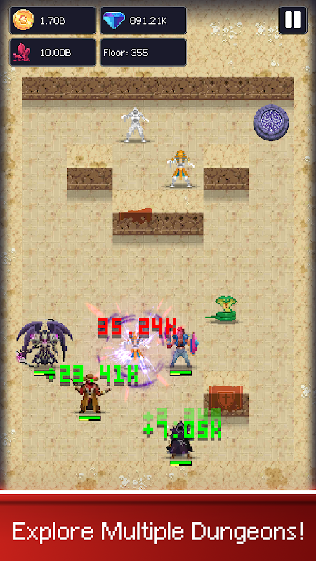 Dunidle: Dungeon Crawler & Idle Hunter Boss Heroes