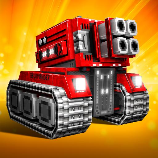 Blocky Cars: tank online.Pixel games & pixel tanks 7.1.0c