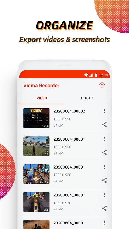 Vidma Recorder, Screen Recorder, Video Recorder