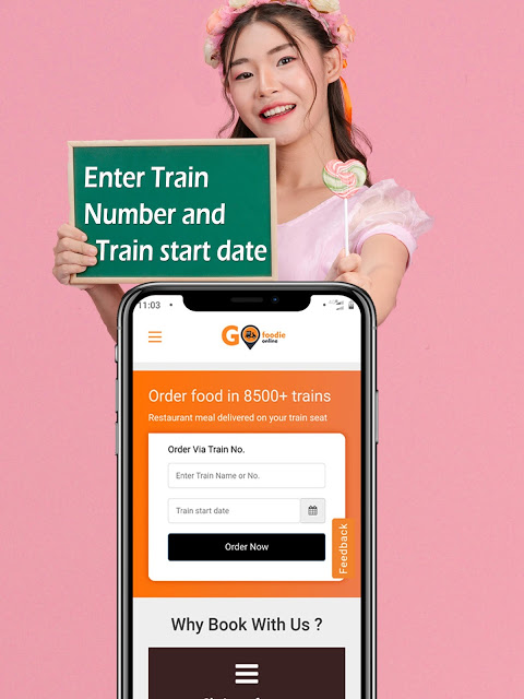 food delivery in train