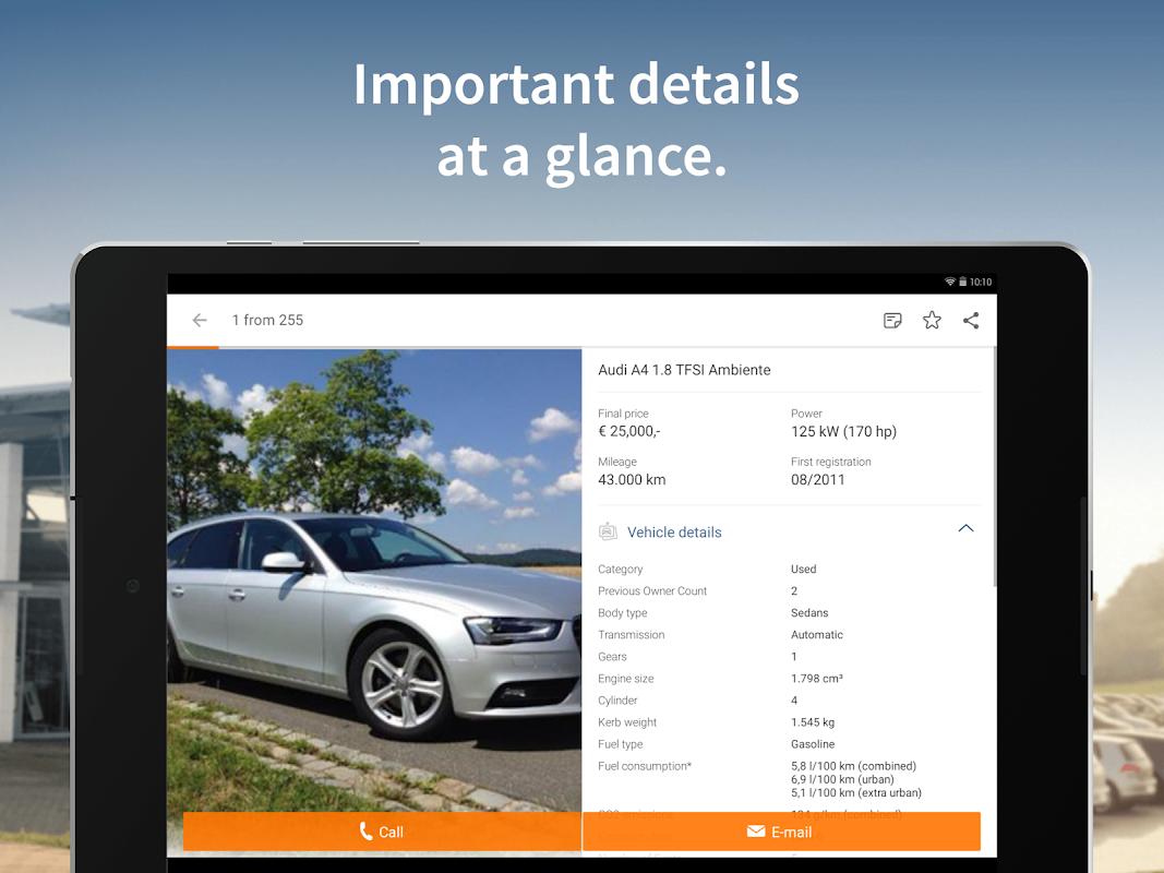 Screenshot AutoScout24 - used car finder APK