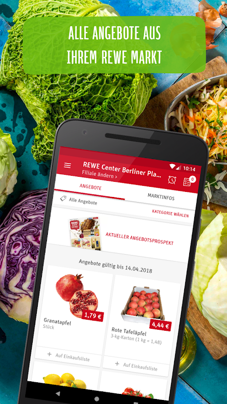 REWE Angebote & Lieferservice The App Store android Code Lads