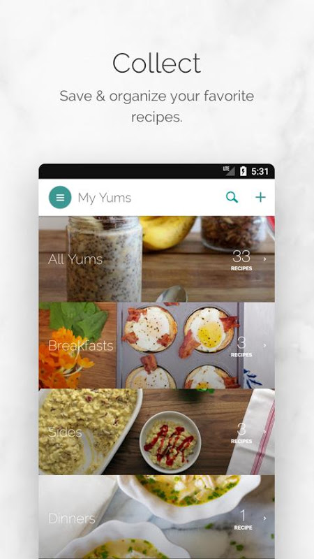Yummly Recipes & Shopping List The App Store android Code Lads