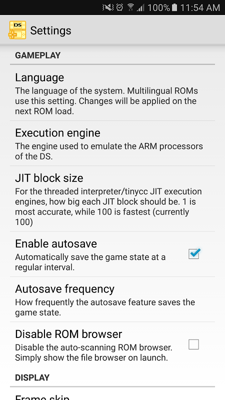Screenshot NDS emulator for Android APK