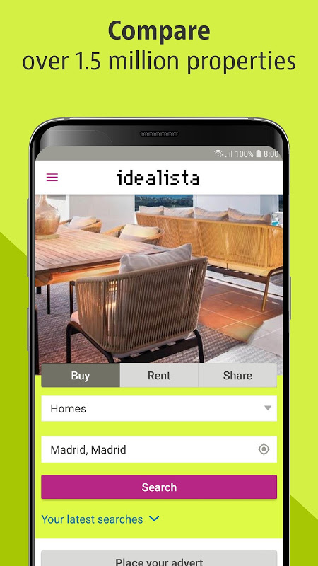 Screenshot idealista APK