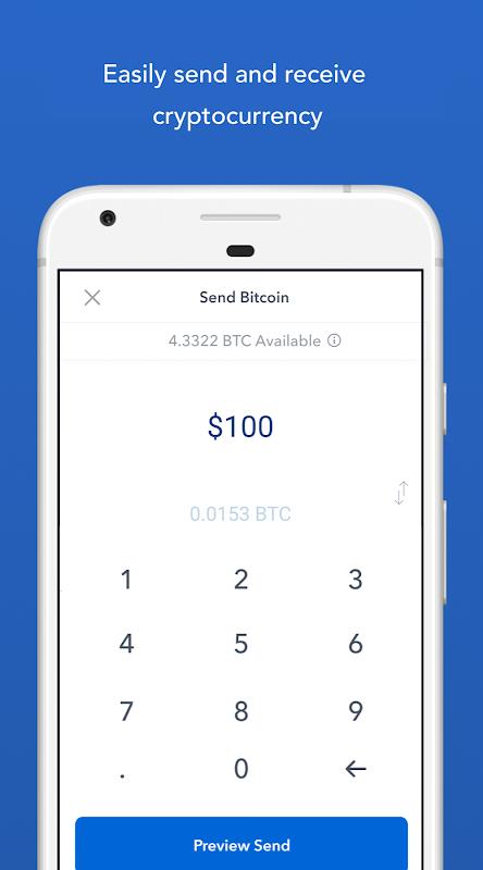 Screenshot Bitcoin Wallet - Coinbase® APK
