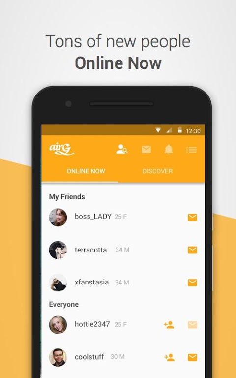airG - Meet New Friends The App Store android Code Lads