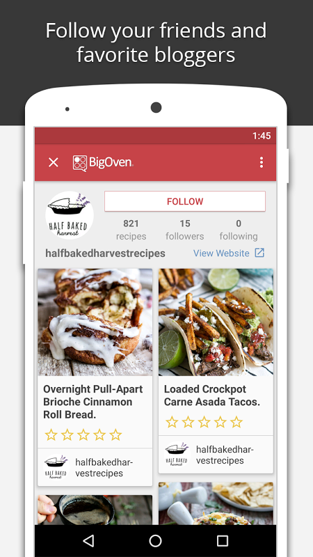 BigOven: 350,000+ Recipes The App Store android Code Lads