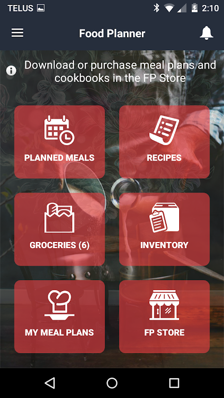 Food Planner The App Store