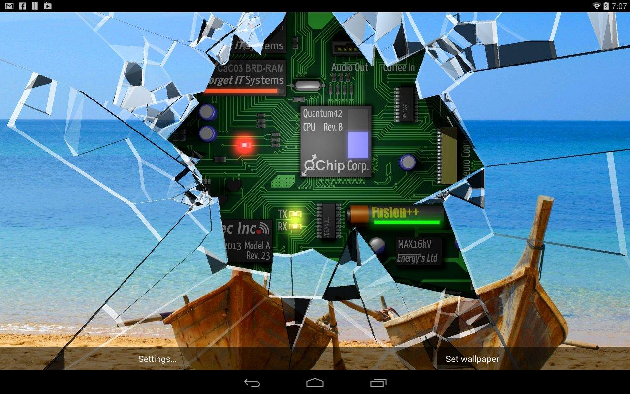 Cracked Screen Gyro 3D Parallax Wallpaper HD The App Store android Code Lads