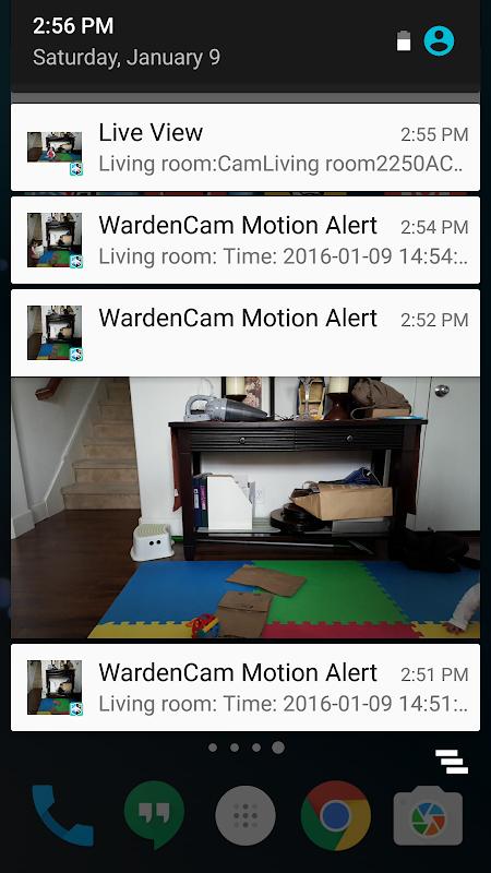 Screenshot Home Security Camera WardenCam - reuse old phones APK