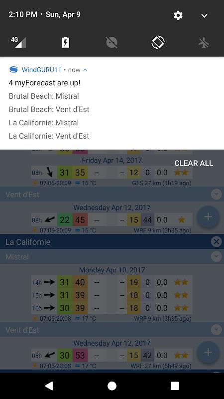 Screenshot Windguru11 APK