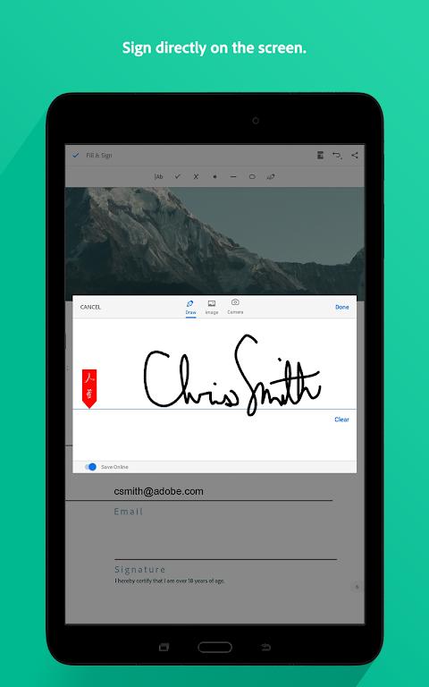 Screenshot Adobe Acrobat Reader APK