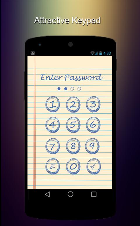 Screenshot Applock for android APK