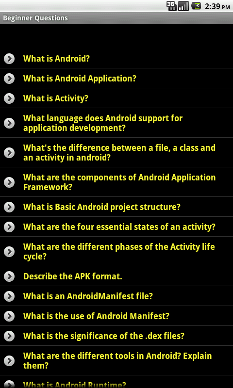 Screenshot Android Tutorial APK