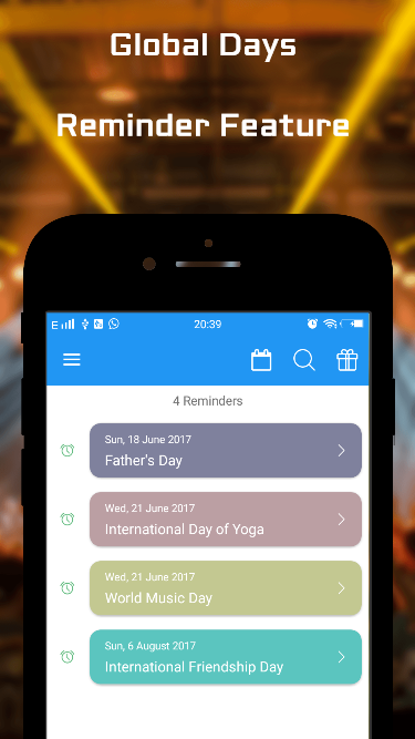 Screenshot World International and Special Days Calendar APK